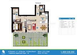 floor plans of al naseem al raha beach