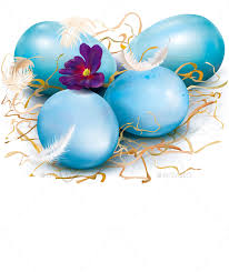 blue easter eggs blue easter eggs by dracozlat graphicriver