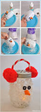 snowman mason jar luminary super cute winter diy craft idea for
