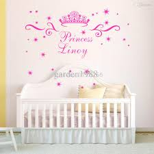 Name On Bedroom Wall Customer Made Princess Wall Stickers Personalized Name
