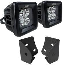 jeep accessories lights 07 16 jeep jk windshield light mounts u0026 2x2 led spot beam combo