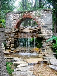 Rock Fountains For Garden Architecture Cool Unique Garden Water Fountains With Rocks Wooden