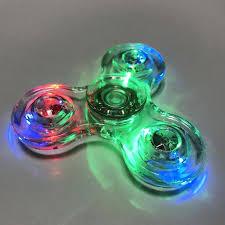 fidget spinner light up blue az trading fidget spinner led light up clear