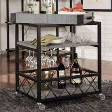 Bar In Dining Room Bar Carts Kitchen Dining Room Furniture The Home Depot