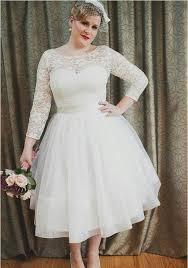 popular lace vintage wedding dress tea length plus size buy cheap