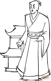 japanese man coloring page free printable coloring pages