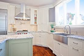 white pearl granite kitchen traditional with countertops down