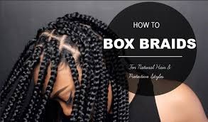 what kind hair use boxbraids how to box braids protective style youtube