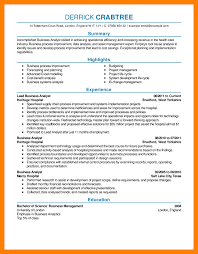 exle of business analyst resume business analyst resume summary for study sles image exles