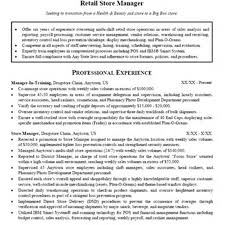 Sample Resumes For Sales Executives Sample Resume Of Store Manager Retail Management Resume
