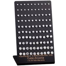 s hypoallergenic earrings online shop zindov 10 pairs lot stud earrings for women men cubic