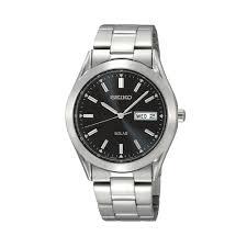 men u0027s stainless steel solar watch sne039