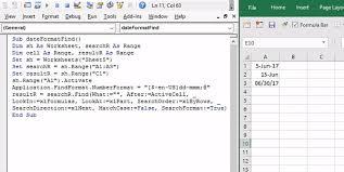 excel vba range find date that is a formula stack overflow
