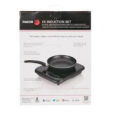 2x induction cooktop with skillet fagor 670041860 cooking