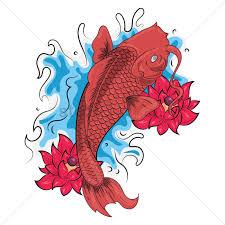 carp fish tattoo fish tattoo design vector image 1435579 stockunlimited