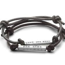 leather sterling bracelet images Men 39 s personalised id sterling silver bead leather friendship jpg