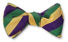 mardi gras bow handmade mardi gras stripes bow tie b2291