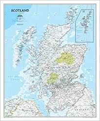 wall maps scotland classic tubed wall maps countries regions national