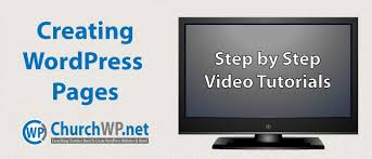 Video Tutorials Websites Creating Wordpress Pages Video Tutorials Church Wordpress