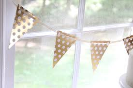 gold polka dot banner pink and gold baby shower girls gold