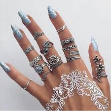 silver rings set images 40 best nails rings images manicures nail jpg