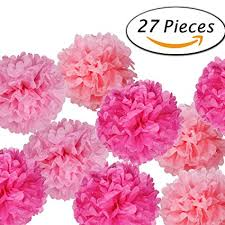 flowers for paxcoo 27 pcs tissue paper pom poms flowers for