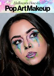 halloween 2017 how to create watercolor pop art makeup glamour