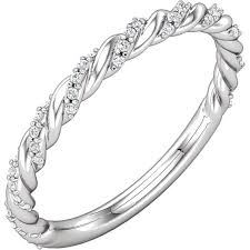 wedding band manufacturers 1 8ctw diamond twist rope band skatell s manufacturing jewelers