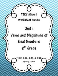 unit 1 value and magnitude of real numbers worksheets 8th