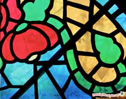 stained glass window diy faux stained glass made by marzipan