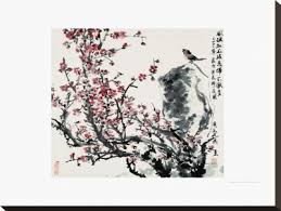 abstract decorative posters cherry blossoms canvas print