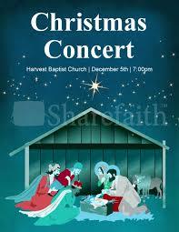 christmas concert program template christmas concert flyer template template flyer templates