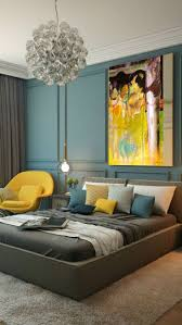yellow bedroom decorating ideas and blue grey color pale navy