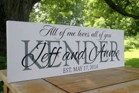 gift personalized wedding sign wedding decoration