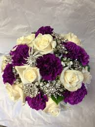 purple carnations wedding bouquets roses and carnations spokane flowers
