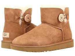 uggs womens boots on ebay ugg australia mini bailey button ii chestnut womens boots 7 ebay
