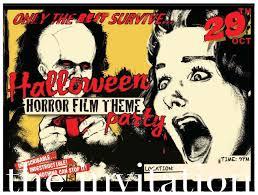 image result for classic horror movie theme invitation horror