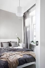 luxurious bedroom with grey curtains decor 25 homedecort