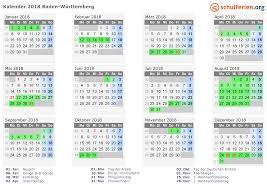 Ferienkalender 2018 Bw Kalender 2018 Ferien Baden Württemberg Feiertage