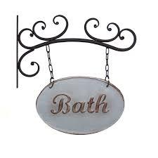 vintage hanging bathroom sign brightpulse us