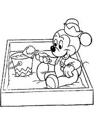 baby mickey mouse coloring pages baby disney coloring pages free printablebaby disney coloring pages
