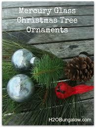 diy mercury glass tree ornament h20bungalow
