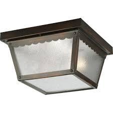 Outdoor Porch Ceiling Light Fixtures by Progress Lighting 2 Light Black Outdoor Flushmount P5729 31 The