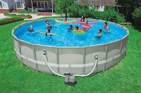 Inflatable Backyard Pools by Pool Intex Metal Frame Pool For Years Of Family Enjoyment
