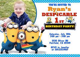 make your own personalized minion birthday invitations designs