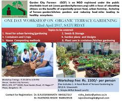 terrace gardening one day workshop on organic terrace gardening at bangalore