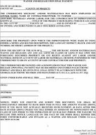 waiver of lien template missouri lien release form lien waiver form missouri missouri