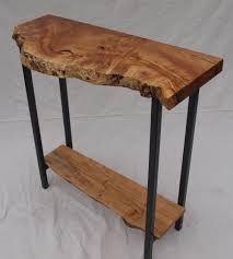 X Base Console Table Live Edge Maple Table Custom Furniture Portland Or Witness