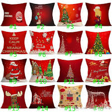 Sofa Cushion Cover Replacement by 2017 Christmas Pillow Case Festival Decorative Pillow Cover Car