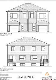House Specs by Floor Plans Semi Detached Symbiocite In La Prairie Groupe Pépin